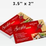 regular business card